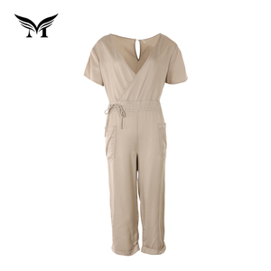 Factory direct soft plain dyed custom made ladies jumpsuit prices