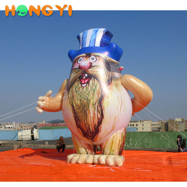 Giant inflatable Plateau the old man Pvc Character Inflatable Model For outdoor Advertising decoration sale