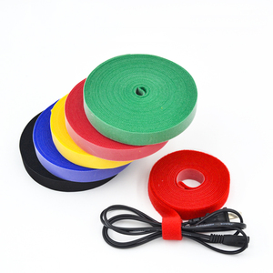 Colorful 12.5*200mm back to back hook and loop band reusable hook and loop tapes