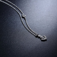 Manufacture Wholesale Custom Latest Style Women 925 Sterling Silver Jewelry Necklace