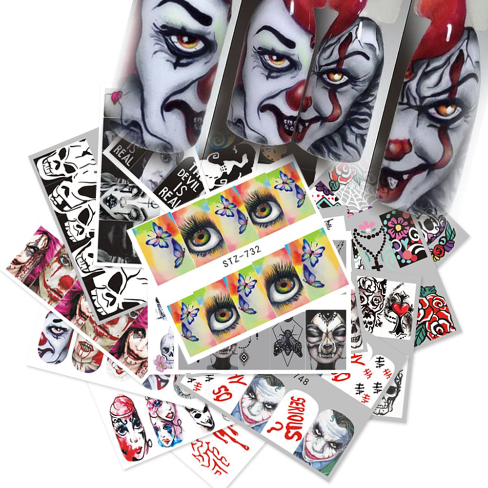 XULIN 25 Designs Hotselling Halloween Professional Nail Art Sticker