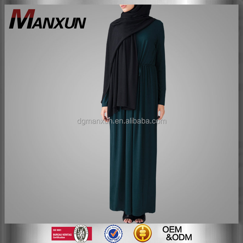 Wholesale Online Classy Breathable Fabric Muslim Abaya With Belt Cosy Simple Fancy Turkish Style Dubai Abaya Islamic Wome Dress