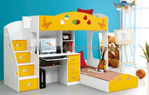multifuncin de cama con escritorio y tres cajones y dos de tamao camas pvc