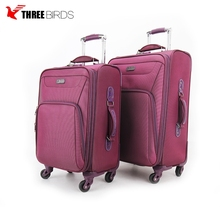 Factory wholesale imported luxury pink vintage suitcase