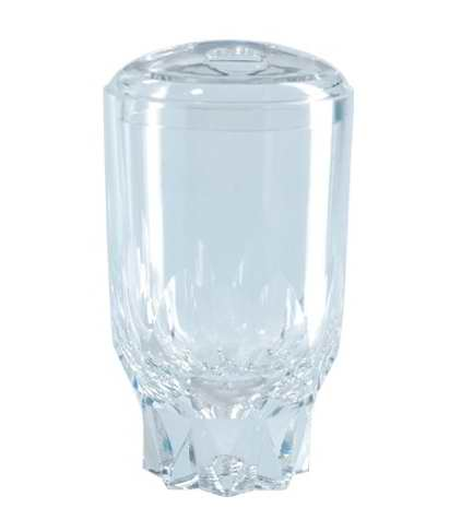 Liquid Fancy Transparent Diamond-Shaped Toothbrush Holder with Vivid Floaters