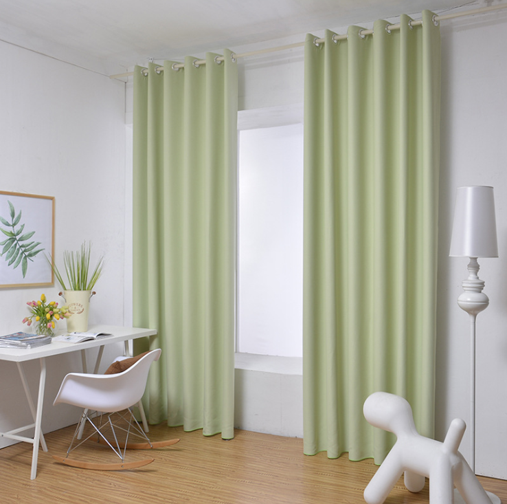 Hotel Blackout Curtain , FR standard, blackout white coating with flocking used hotel curtain
