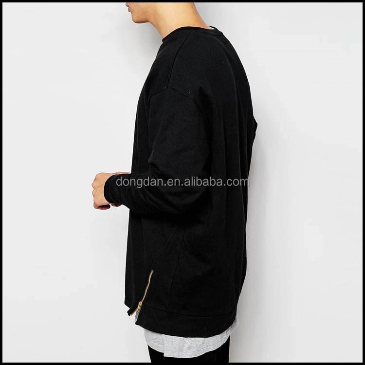 Both sides with zipper jacket sweatshirt without hood and sweatshirt extra  long mens collar sweatshirt aa0990c09ee