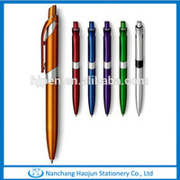 2015 newly designed with clip plastic promotion ballpoint pen for band advertment