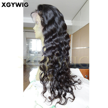 Jinde Best sell 100% virgin remy human hair Glueless Deep Body Wave Free Parting lace front wig Brazilian Hair