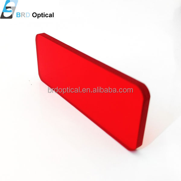 Red colore optical HB600 glass long pass filter