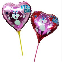 "2012 Promotion 18""heart Foil Balloon with Colorful Picture/cheap ballon/promotional balloon"