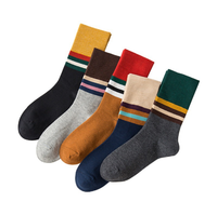 uniform wholesale school socks with stripes cotton student teenage school sock black and white