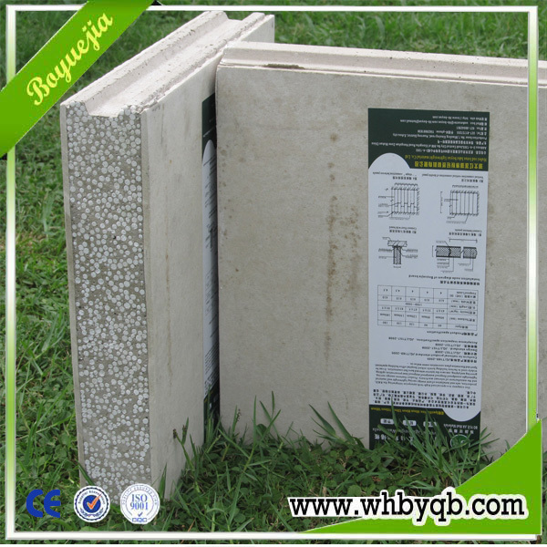 Lightweight insulated eps cement sandwich panel for Insulated cement blocks