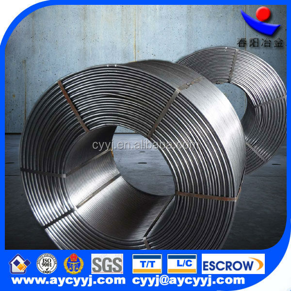 China calcium silicon manufacturer directly supply ferro alloy/casi cored wire