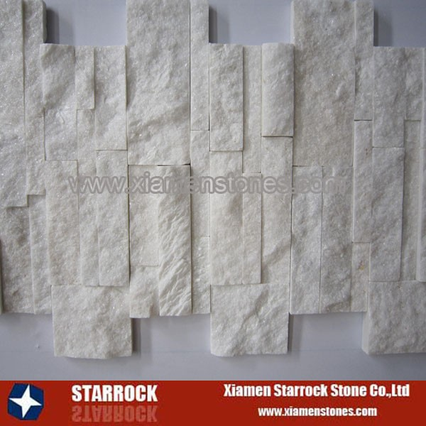 Super white quartzite wall panel