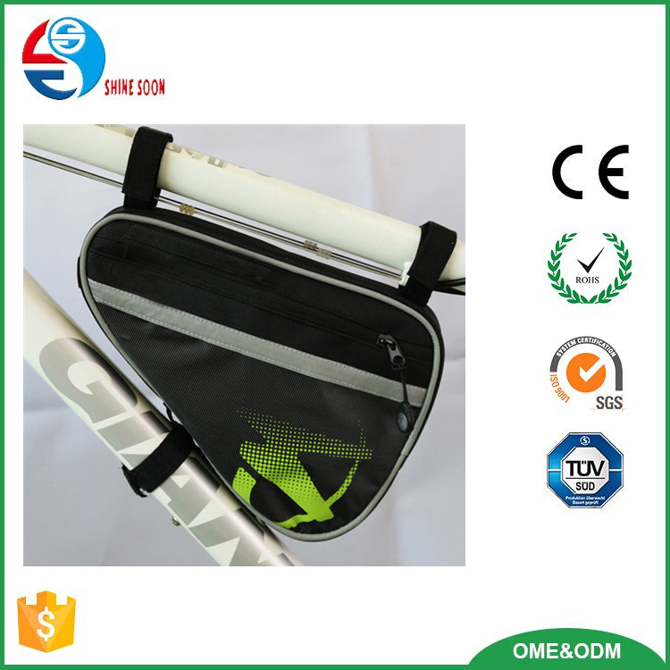 Custom Logo Bicycle Triangle Bag Mountain Bike Front Tube Frame Bag 600D Bike Bag Front