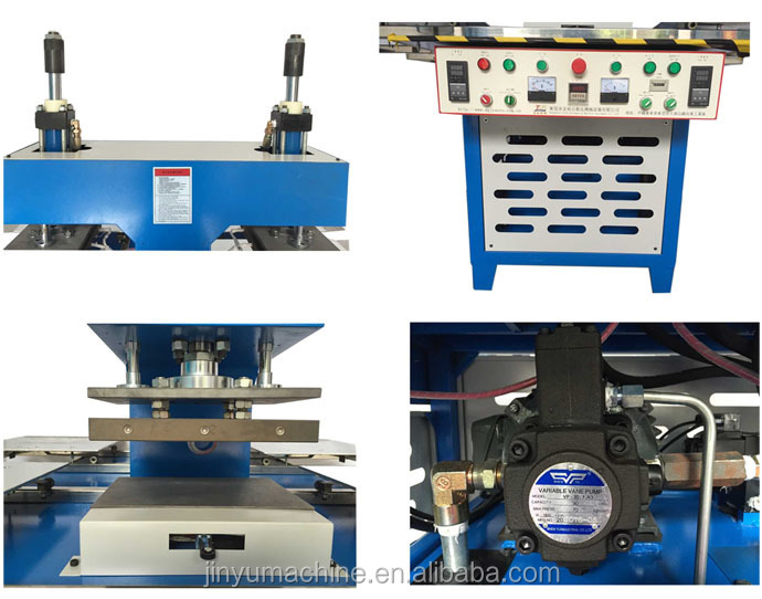details of silicone trademark forming machine