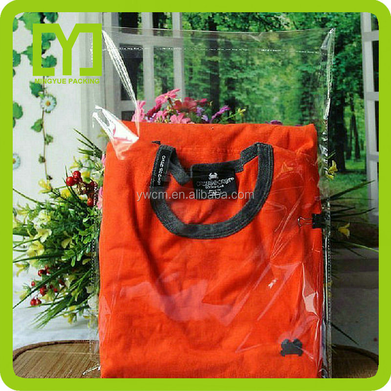2014wholesale high quality cheap self adhesive clear plastic bags clothing