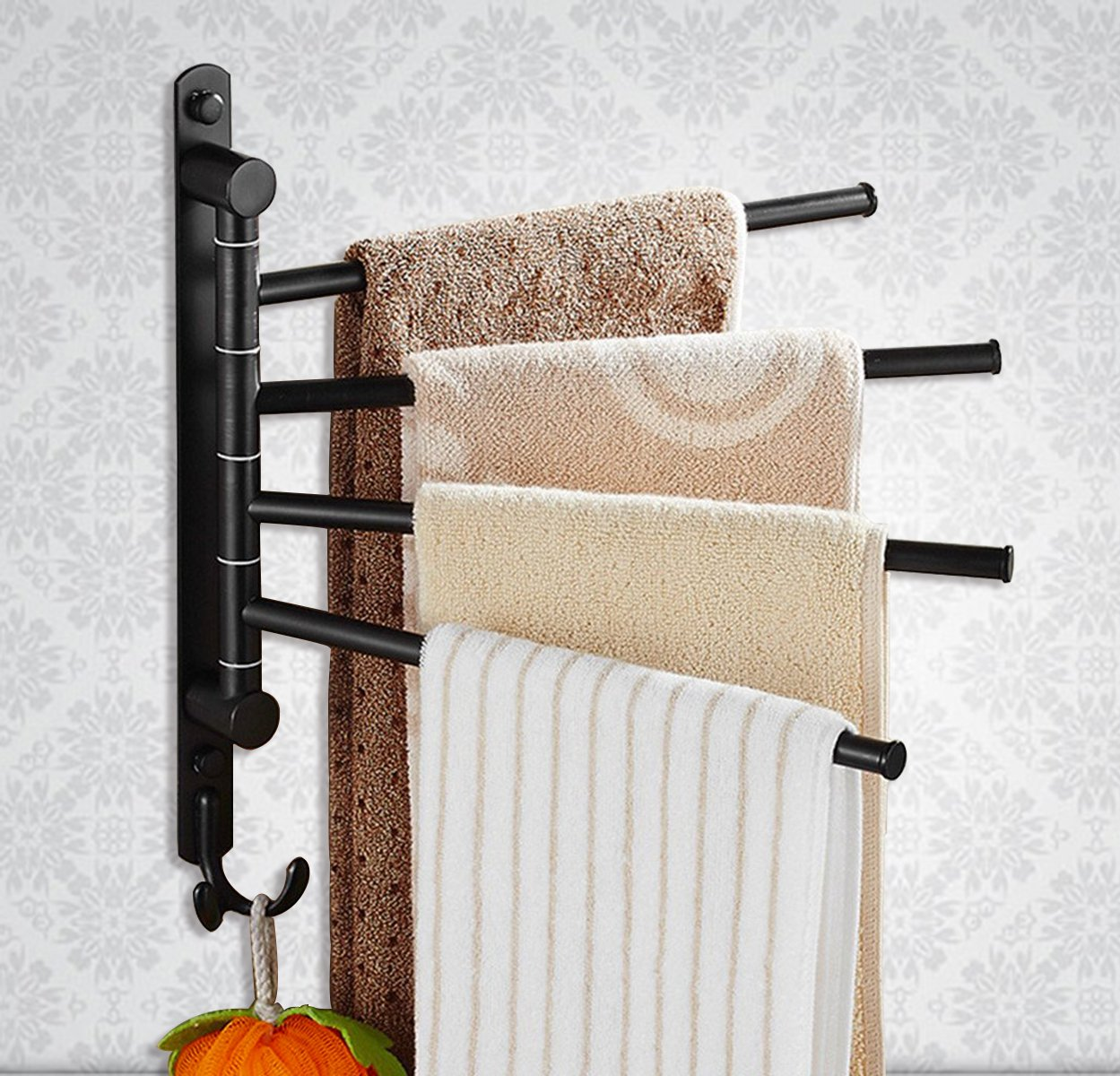 Get Quotations Cbtone Swing Out Towel Rack Wall Mounted Oil Rubbed Bronze Swivel Bars For Bathroom With