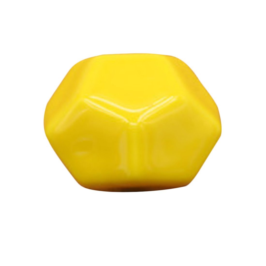c6ac1f5590bf Get Quotations · XSHION Cute Pentagon Shape Ceramic Door Cabinet Cupboard  Knobs Wardrobe Drawer Pull Handle - Yellow