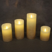 Battery Operated Painted Amber Light Flickering Flameless Christmas Lights Cheap 2019 New Product Home Decoration Candle