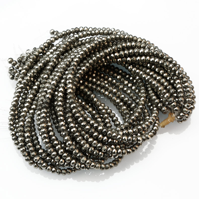 Yiwu Market Prices Pyrite Stones , Health Stone Product,Loose Pyrite Faceted Bead