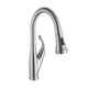 discount deck mounted goose neck pop up pull out kitchen faucet tap with pull out spray