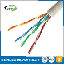 utp cat5e AWG24 4PAIRS 8NUMBERS communication network cables with 100% copper fluke pass