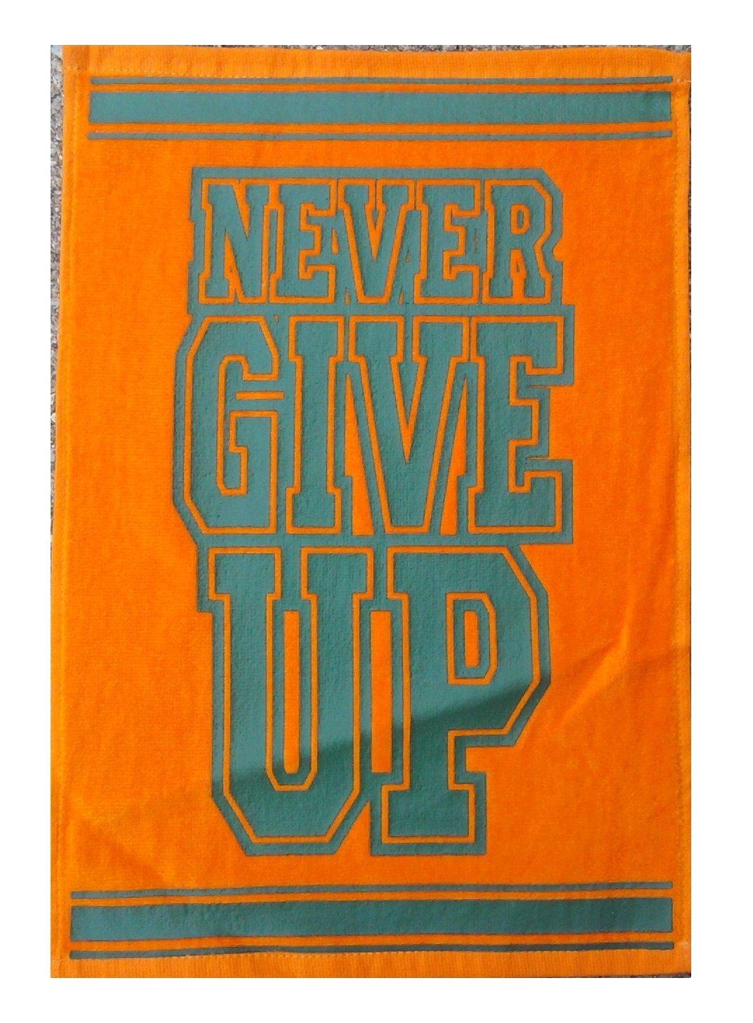 John Cena 'Never Give Up' Orange WWE Authentic Ring Entrance Towel