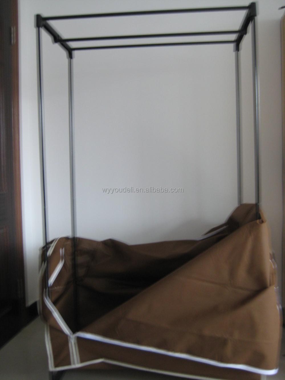 Hete verkoop doek kast, 600d opvouwbare kledingkast schuifdeur ...