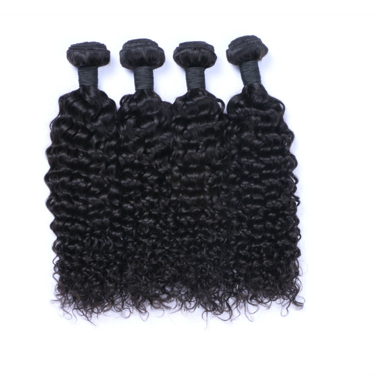 Wholesale Machine Weft Hair Extensions Jerry Curl 100% Natural Indian Human Hair