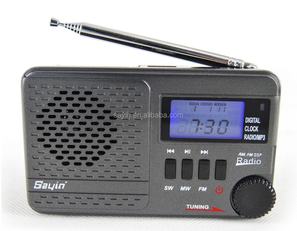 Sy-1192 Wooden Retro Am Fm Sw Digital Usb Powered Radio With Usb ...