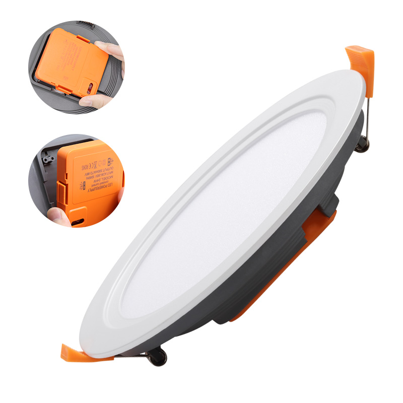 Hot sale factory direct price all in one surface mounted ip44 12w panel led light embedded <strong>downlight</strong>