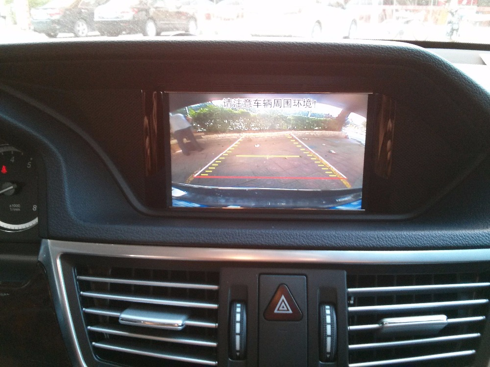 Video interface with active parking guideline/front view/DVR for Mercedes