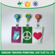 colored pvc badge holder with zipper locker