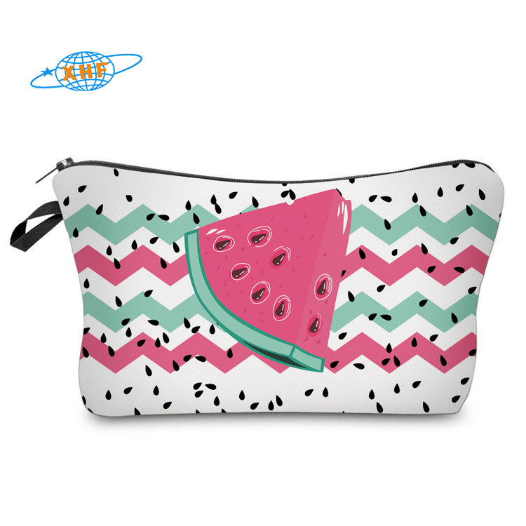 3D watermelon print makeup bag for <strong>cosmetics</strong>