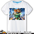 Cotton short sleeve big kids t shirts cute cartoon game boy gir big boy wear summer