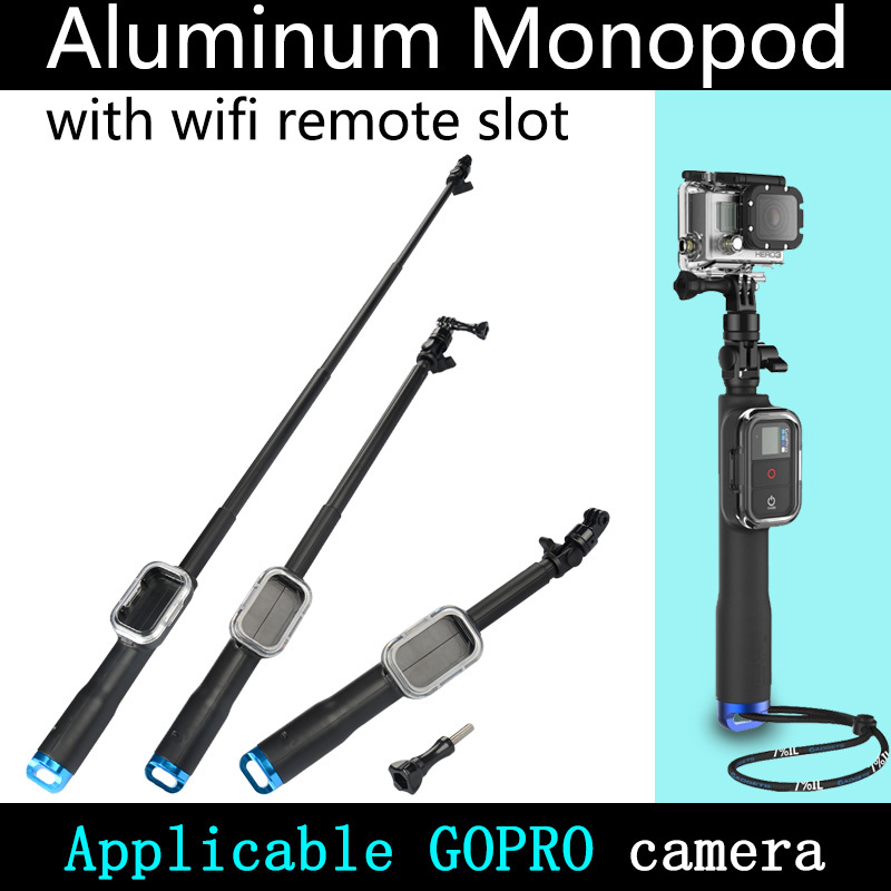 WIFI Remote Pole 38cm-98cm Blue Base With Controller Case Self Telescopic Rod