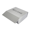 White Rigid Cardboard Packaging Magnetic Closure Shoe Boxes High End Collapsable Flat Packed Magnetic Paper Gift Box