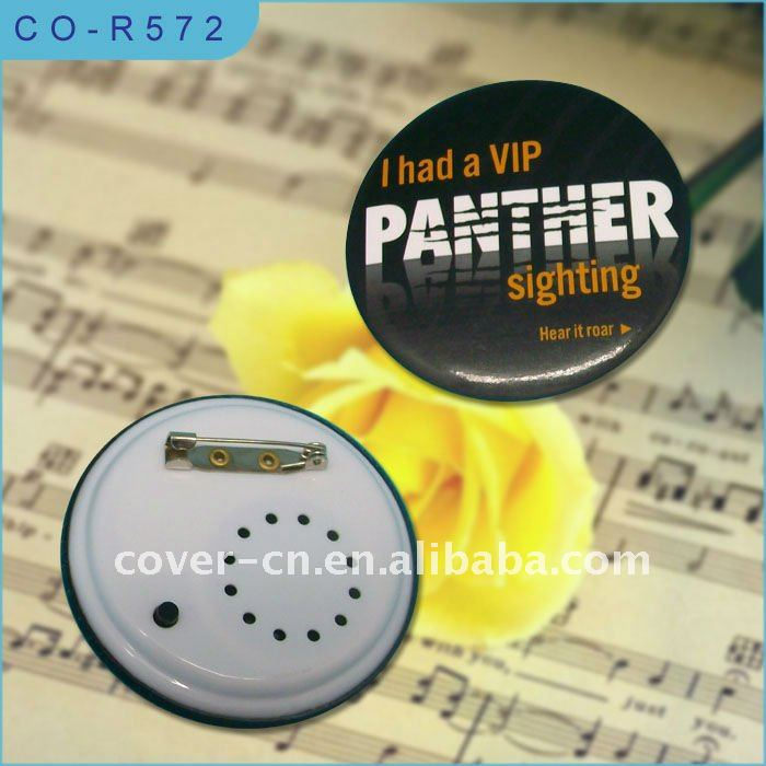 Music sound Badge with Pin back for promotion gifts