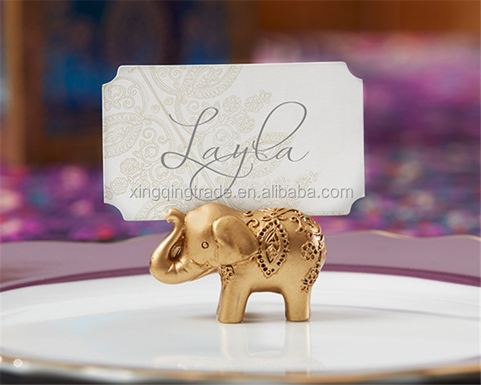 Gold Elephant Place Card Holder Table Number Photo Storage Clip For Wedding Party Table Decorations