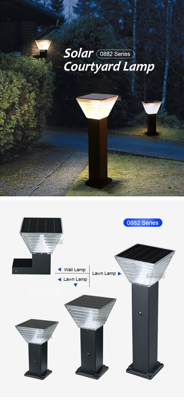solar led garden light factory-5
