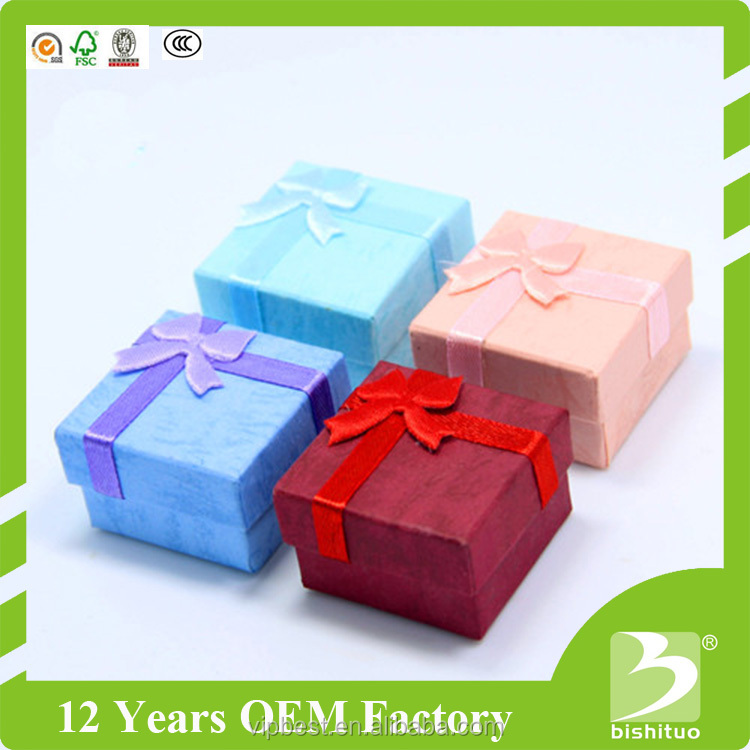 Wholesale Fashion Ring Jewelry Box Lid and Base Box Hardcover Gift Box