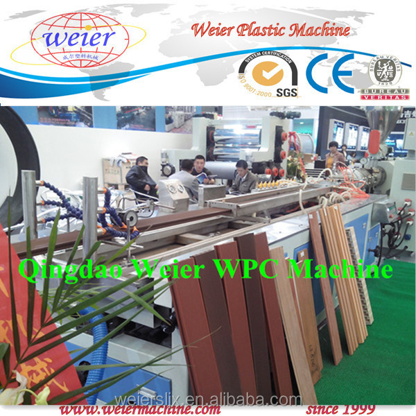 recycled wood + PE/PVC wood plastic composite profile extrusion machine