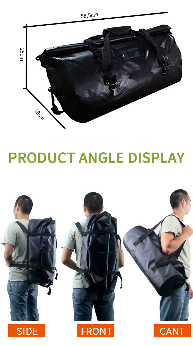 Factory Custom PVC Waterproof Backpack Dry Bag Foldable Duffel Bag Travel