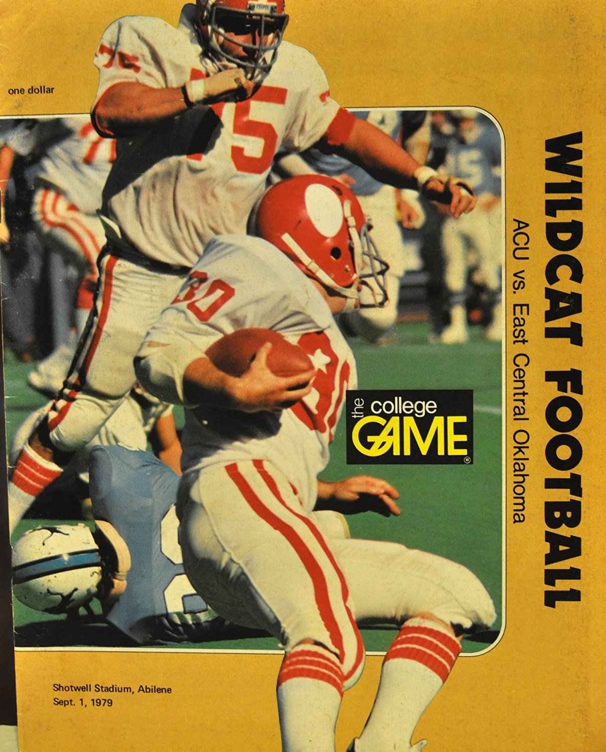 Sports Collectibles: The College Game ACU vs. East Central Oklahoma Football Pr..., September 1, 1979
