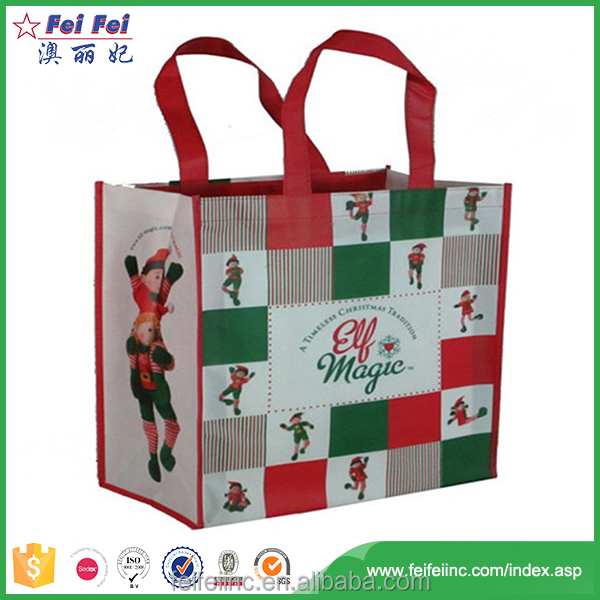 China Manufacturer Custom Printed Shopping Laminated Recycled Pp Woven Bag