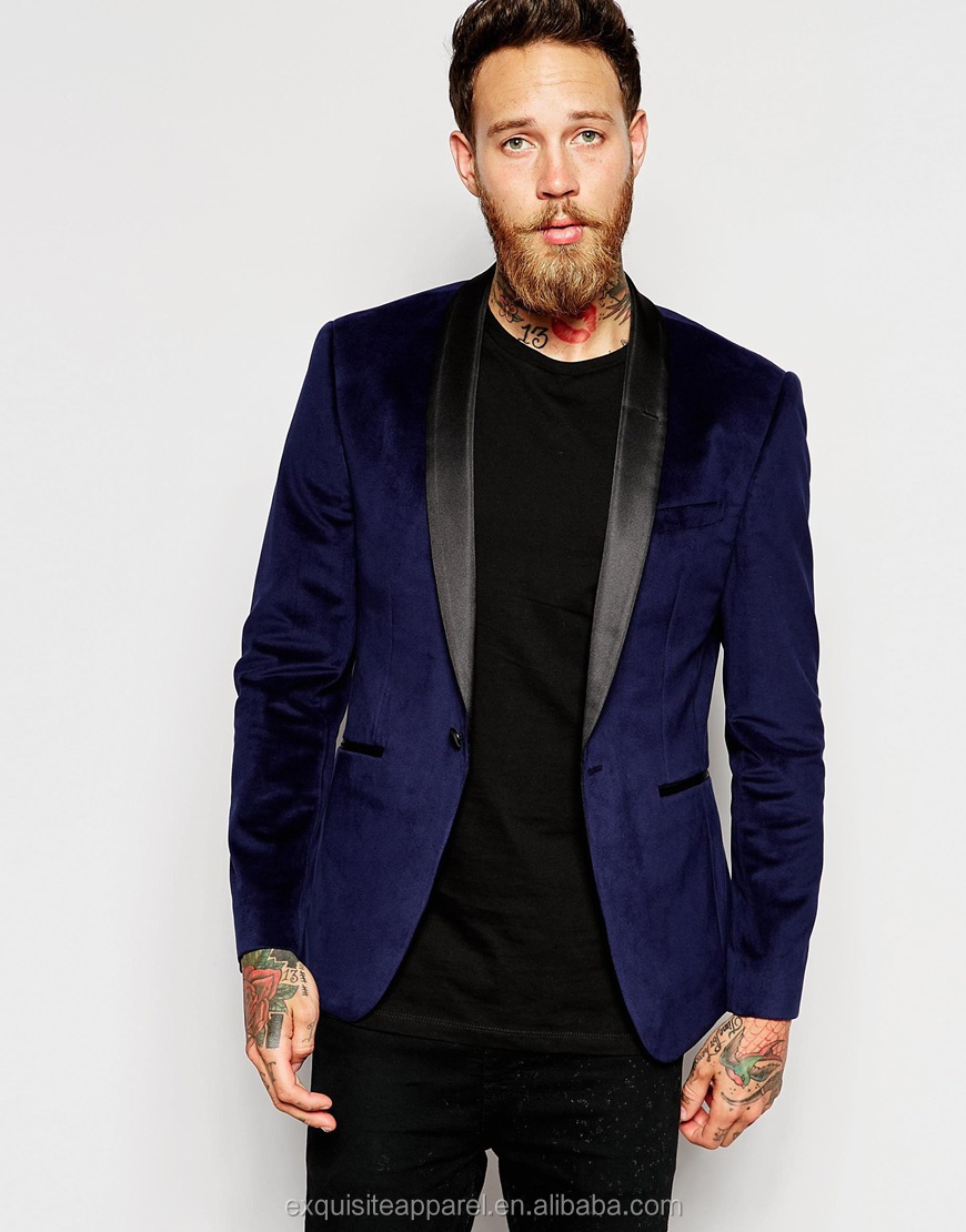 Custom 100% Polyester Velvet Blazers For Men 2016/blazer Men ...