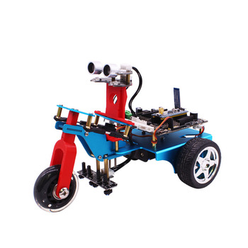 2018 yahboom new DIY trikebot kit smart 3WD 3 wheels driver tricycle stm32 three-wheeler robot with metal servo independent turn