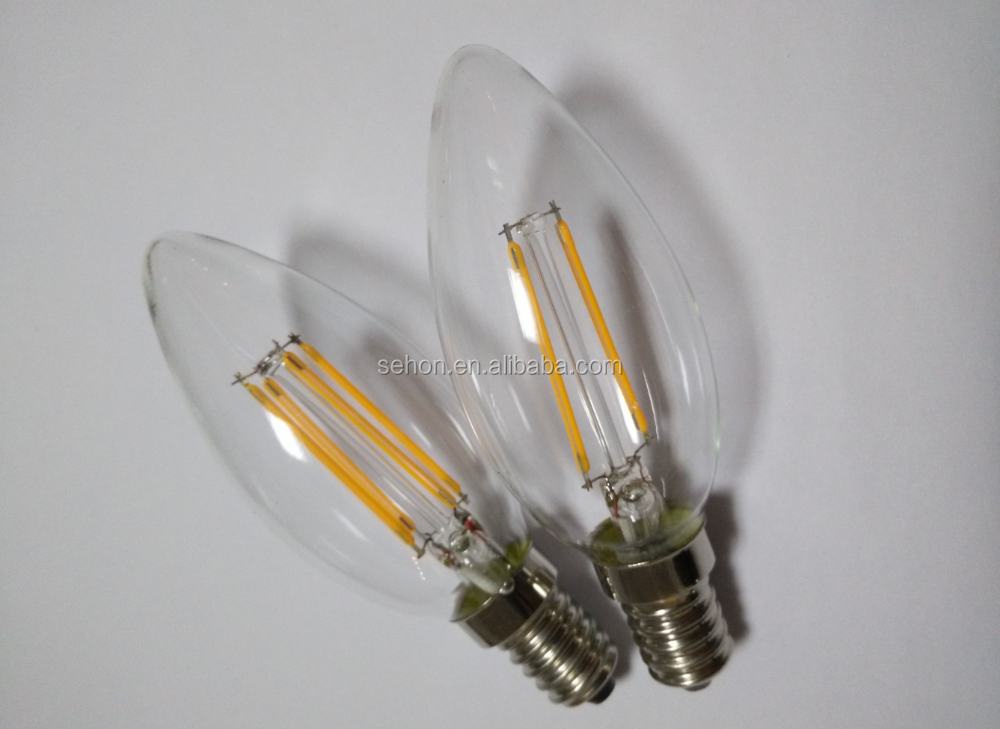 Led Bulb Filament Candle Dimmable Frosted Candelabra C35 E14 E27 ...